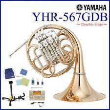 o76 YAMAHA YHR-567GDB Full Double French Horns [Value Package]