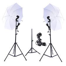 Photo Studio Continuous Lighting Kit Lamp Umbrella E27 Bulb Light Stand