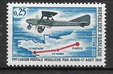 FRANCE 1968 1 mint stamp**. 1st regular postal connection by plane .......(6458)