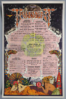 Vintage 1972 Rock & Roll Menu Poster Psychedelic Groovy Graphics Hippie Trident