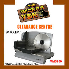 MAXIM 200 Watt Electric Deli Style Food Slicer 190mm Blade MMS200 FREE SHIPPING