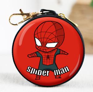 Spider-Man Coin Purse Zipper Marvel Heroes Wallet Headset Children Money Kids UK