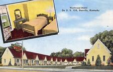 HUNTWOOD MOTEL Danville, KY US 150 Roadside Kentucky Postcard ca 1940s