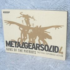 METAL GEAR SOLID 4 Tactical Espionage Action Booklet Art Book Ltd