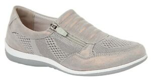 Boulevard side zip/ gusset suede /Textile casual shoes Style L534 Colour Grey