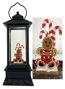 Illuminated Christmas Color Changing Lantern Snow Globe w/Timer by Lori Greiner