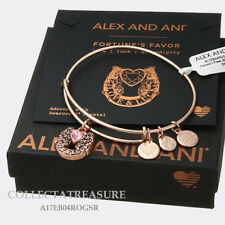 Authentic Alex and Ani Fortune's Favor Rose Gold Expandable Charm Bangle