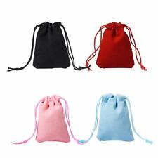 100pcs Mixed Velvet Jewelry Bag 7x5cm Storage Packaging Wool Pouches Large Small