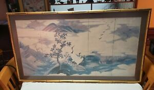 Japanese Style Ceramic Landscape Picture with 5 fake panels
