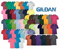 Gildan Mens Womens Heavy Cotton Plain T-Shirt Tee T Shirt Short 50 COLOURS