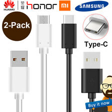 2-Pack USB-C Type-C 3.1 Data Sync Charger Charging Cable Cord For Samsung Huawei