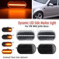 2x LED Ambre Répéteur Clignotant noir pour VW Bora Golf 3 4 Passat Polo Jette