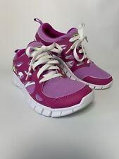 Nike Free Run 2 Ladies Running Gym Fitness Trainers Pink Green UK Size 5