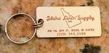 1970S Idaho Linen Supply Keychain 2 Inch