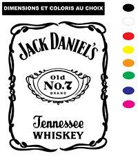 Sticker JACK DANIEL'S OLD N°7 Autocollant Adhesif Véhicule Moto Biker Deco
