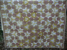 Vintage Hand Quilted Hexagon Quilt