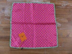 ETRO Milano polka dots silk pocket square authentic - NWT