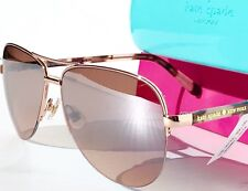NEW* KATE SPADE BETHANN Rose Gold 57mm Aviator Rose Gold mirrored lens Sunglass