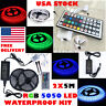5050 5M 10M 300 Leds SMD LED Strip Tape Roll Cool White RGB DC 12V Adapter Kit