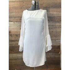 Vero Moda Cream Long Sleeved Mini Dress Trumpet Sleeves Backless
