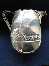 Water Jug Italian Sterling Silver Chased Engraved & Pierced Marked On The Base