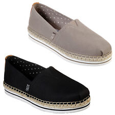 Skechers BOBS Breeze Shoes Canvas Summer Classic Espadrilles Pumps Womens 32719