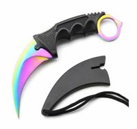 Fixed Blade Cs Go Counter Strike Karambit Knife Portable Survival Camping Knives