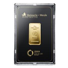 Goldbarren 10 Gramm im Blister Heimerle + Meule