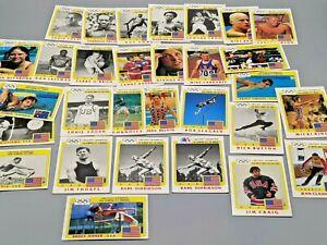 1983 Topps Greatest Olympians 29 Card Lot! JENNER Jim Craig THORPE Killy BABE +