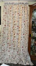 Gorgeous pair IKEA Drapery /Drapes Clean 56x96 White w/Red Flowers