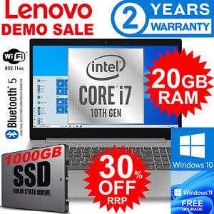 LENOVO I7 10TH GEN POWER w HUGE 20GB RAM & 1000GB SSD, WIN 10, 2 YEAR WARRANTY