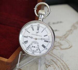 Rare AERO WATCH CHRONOMETRE Taschenuhr Original Box pocket watch 0.925 Silver