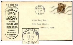 CANADA CP OCEAN SERVICES MONTREAL JUL 1920