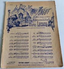 La fille de Madame Angot  Charles Lecocq partition N°12 Valse chantée