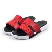 Nike Air Jordan Hydro 8 Slides Sandals BRED BLACK GYM RED WHITE CD2803-601 Men's