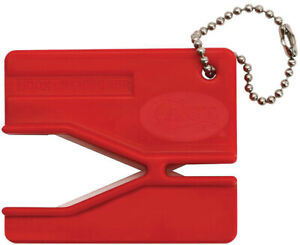 Case XX Red Plastic Keyring Knife Blade Ceramic Rods Hook Sharpener 52451