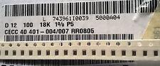 Partial Reel 4500pcs+ Vishay D12 0805 18K 1% Chip Resistors