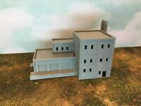 Multi Level FACTORY with LOADING DOCK and DUAL STACKS - Z Scale 1:220 - 3D Model