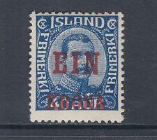 "Iceland Sc 150 MLH. 1926 1k on 40a ""Ein Krona"" surcharge, F-VF"