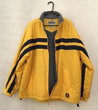 Aeropostale Vintage Yellow Heavy Winter Jacket Zip Insulated Mens XL
