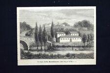 Veduta dello stabilimento dei bagni d'Arezzo Incisione del 1875