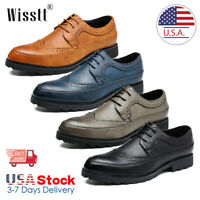 Men's Genuine Leather Dress Casual Lace-up Comfort Oxford Formal Shoes US 5-13