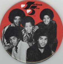 MICHAEL JACKSON 5 1971 TOUR MOTOWN SOUVENIR BUTTON PIN / EXCELLENT - UNUSED