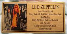 Led Zepplin Band Gold Plaque Free Postage*** Picture