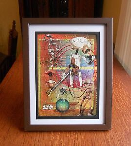 DROID STAR WARS EPISODE I MINI- 50 PIECE PUZZLE  Assembled and Framed