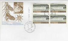 Canada Post OFDC 1979 $1.00 National Parks: Bay of Fundy LL Plate Bl FDC Sc #726