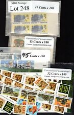 US Postage Below Face, $100 for only $69.95, FREE SHIPPING, Mint stamps Lot 248