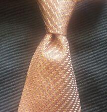 Nautica Mens Necktie Orange Gold Indigo Blue 100% Silk Tie