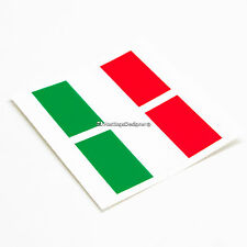 2x ITALY FLAG Italian Tricolore Laminated Car,Bumper,Laptop Vinyl Decal Stickers