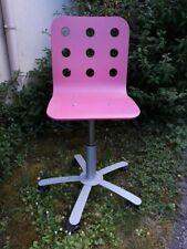 Chaise bureau enfant IKEA JULES rose